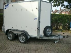 Ifor Williams twin Axle braked BV85G Box Trailer 8x5FT Spare wheel