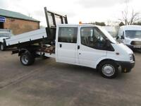2014 Ford Transit 350 30K 125bhp Double Crew Cab Tipper One stop dropside body