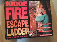 Domestic fire escape ladder, 15', steel (unused)