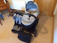 Oyster carry cot and pushchair