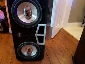 "Baseworks 2 x 10"" box with subs"
