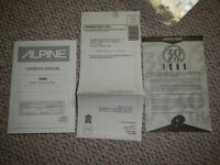 Alpine 7909 30th Anniversary Limited Edition manual certificate
