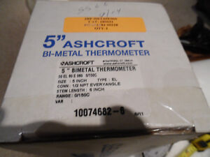 "Ashcroft 50EL60E060 /0-150C Thermometer 6"" stem Adjustable Stem Kitchener / Waterloo Kitchener Area image 6"