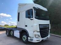 2014 64 DAF XF 106.460 EURO 6 6x2 space cab tractor unit slider
