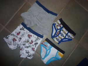 5 T-shirts, size 2 $ 6 for all, new underwear, size 2 - 4 $ 2 Kitchener / Waterloo Kitchener Area image 2