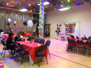 PARTY HALL RENTAL FOR BABY SHOWER, BIRTHDAY, KID'S EVENTS!