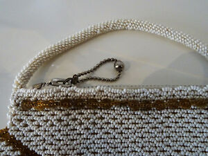 ART DECO beaded HANDBAG Czechoslovakia CHEVRON PATTERN 1920s-40s Kitchener / Waterloo Kitchener Area image 5
