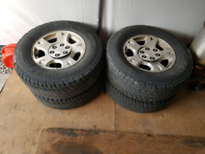 From 2005 avalanche 17 rims and tires $75 for all