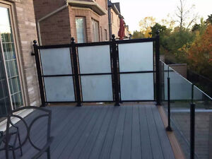 ALUMINUM/TEMPERED GLASS RAILING SUPPLY AND INSTALL