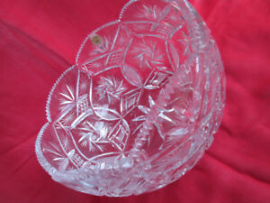 "extremely rare /beautiful/ CRYSTAL PINWHEEL BOWL   8""  not used"