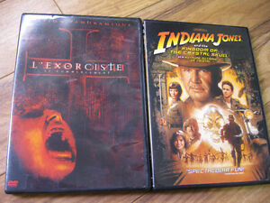 video film TV dvd disk l'exorciste et indiana jones a voir
