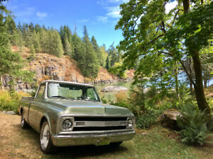 restored 1970 C10 short bed pickup truck