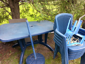 Table patio plastique , pour serre ou storage