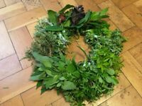 Fresh herb wreath for cooking £15