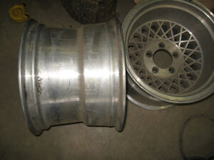 14X10 Aluminum Western wheels, 5X4.5, sell or trade