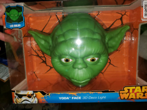 Star wars Yoda 3d face light