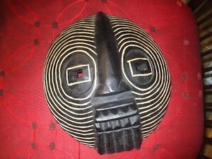 African masks and book ends ,drum .picture frames etc.