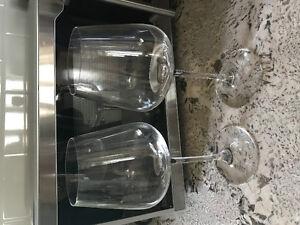 2 spiegelau red wine glasses