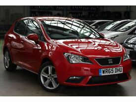 2015 65 SEAT IBIZA 1.4 16v TOCA 5 DOOR,ONLY 14,000 MILES WITH FSH