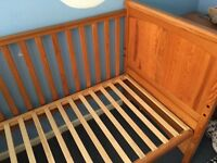 Mammas and papas cot and changing table.