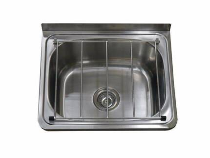 New PCH Commercial Stainless Steel Cleaners Sink Hinged Grate
