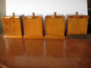 Wooden Cannister Set - 4 pc