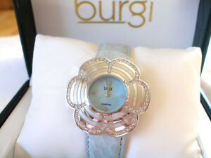 Burgi- Mother of Pearl & Diamond Ladies Watch