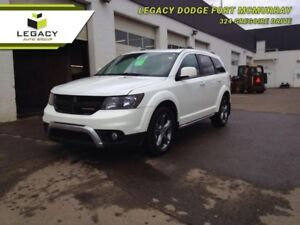 2017 JOURNEY AWD CROSSROAD LEATHER SUNROOF DVD LOW KM