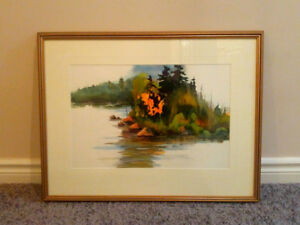 3 watercolours by noted Ontario artist Jake Mol