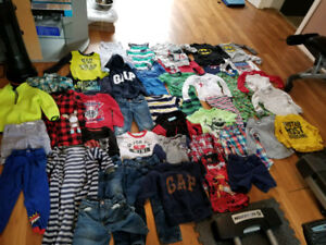 Large used 45 piece lot of 4T clothes