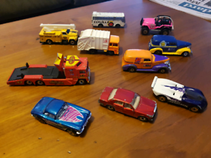 Matchbox cars and truck
