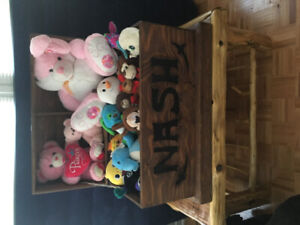 Custom made solid wood Toy chest