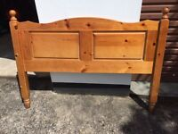 Headboard (double) - solid wood - ideal upcycle