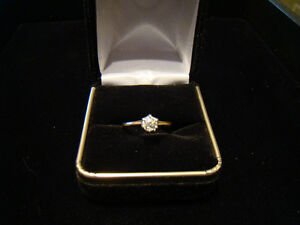 .37ct Diamond Solitare 14k Gold Engagement Ring**SALE 40% OFF**