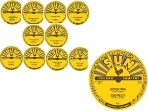 ELVIS PRESLEY 78RPM SUN RECORDS LABELS-DISPLAY ONLY-FULL SET