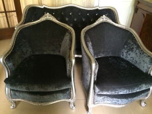 3 piece Set of Antique Sofa/Couch and 2 Tub Chairs, $3500