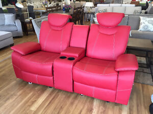 Red recliner loveseat on sale!!!