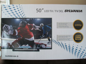 NEW 50 INCH SYLVANIA LED TV.  $350.00