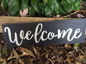 Welcome rustic home decor sign