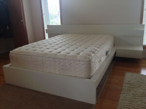 IKEA double bed frame with Sealy mattress. Excellent condition.