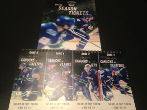 Vancouver Canucks Tickets To Various Games Row 3 Aisle Hard Copy