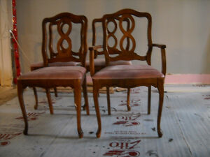 4 Provincial Wood Chairs