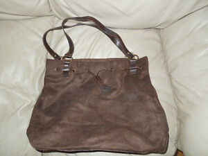 Brand New: Suede Purse with small matching tote