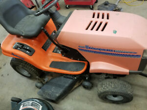 Parting out 1994 husqvarna 42 inch cut ride on lawn mower