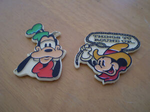 VINTAGE GOOFY AND MICKEY MOUSE MAGNETS Windsor Region Ontario image 1