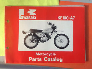 1978 Kawasaki KE100-A7 Motorcycle Parts Book