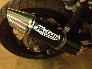 08-12 Ninja 250 Musarri carbon slip-on