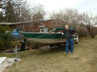 Tracker Pro-V boat and trailer for sale