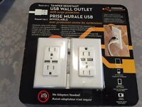 USB Wall Outlet with cover plate