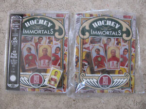 Hockey Immortals Book With or Without 1911 Reprint Card Set.